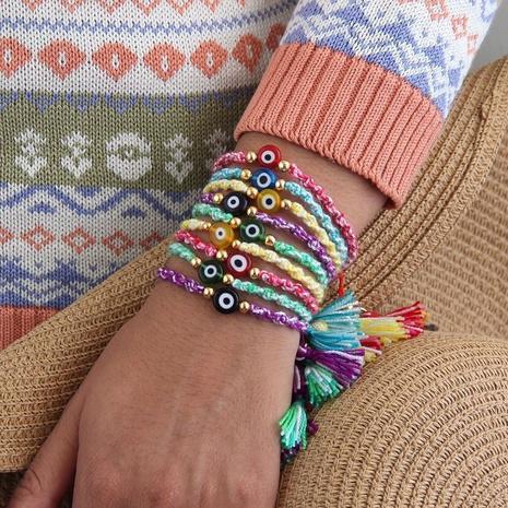 Einfaches farbiges Glasurauge Perlen kleines Armband NHGW298071's discount tags