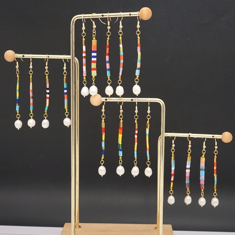 Bohemian long earrings NHGW298091's discount tags