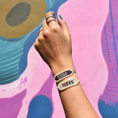 bohemian ethnic style Miyuki rice beads hand-woven wild LOVE letter beaded bracelet  NHGW298093's discount tags