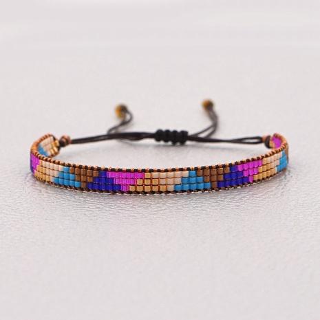 Miyuki rice beads woven Bohemian bracelet NHGW298112's discount tags