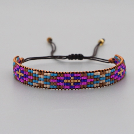 Creative fashion Miyuki rice beads handmade bohemian retro ethnic style purple eye bracelet  NHGW298113's discount tags