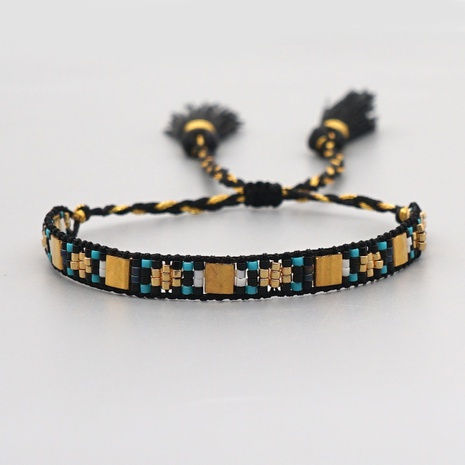 Simple Tila Gold Geometric Shape Ethnic Miyuki Rice Bead Bracelet  NHGW298116's discount tags