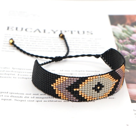 Black punk ethnic style wild Miyuki rice beads bracelet NHGW298117's discount tags