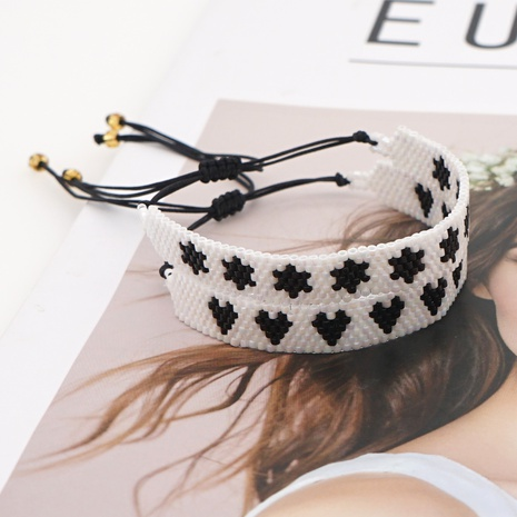 punk ethnic style six-pointed star Miyuki rice bead bracelet NHGW298122's discount tags