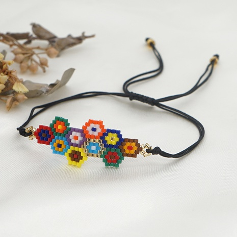 Simple bohemian color geometric Miyuki rice bead bracelet  NHGW298123's discount tags