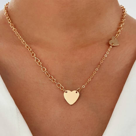 alloy heart simple necklace NHPJ298142's discount tags