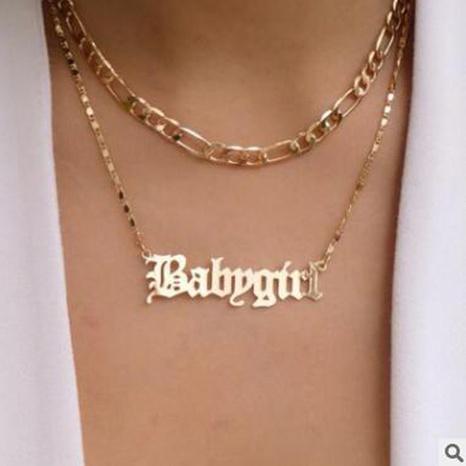 collier à pendentif lettre babygirl NHPJ298147's discount tags