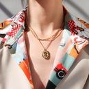 hiphop portrait pendant multilayered necklace  NHOK298155