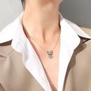 lindo collar de acero de titanio de conejo NHOK298159