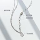 doublelayer English letter titanium steel necklace NHOK298160