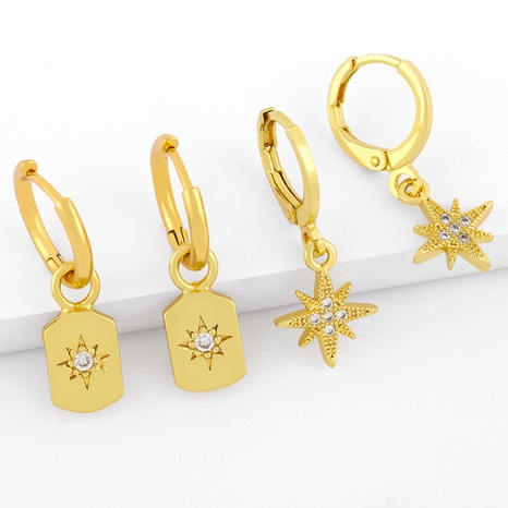 micro-inlaid six-pointed star earrings NHAS298184's discount tags