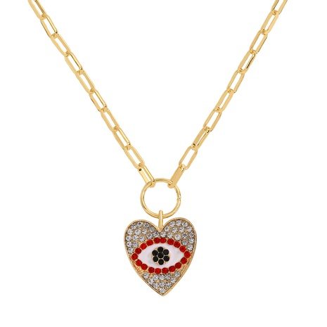 diamond devil eye alloy necklace NHJQ298198's discount tags