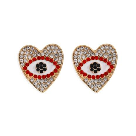 Devil Eye Diamantlegierung herzförmige Ohrringe NHJQ298200's discount tags