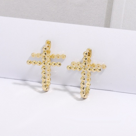 punk copper cross fashion earrings NHJQ298209's discount tags