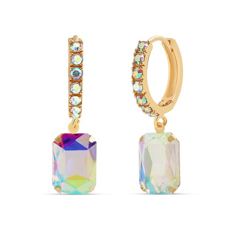 copper diamond square earrings NHJQ298215's discount tags