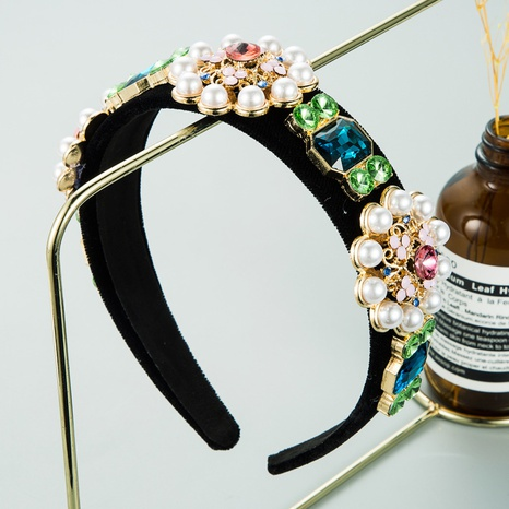 baroque retro pearl flower headband  NHLN298225's discount tags