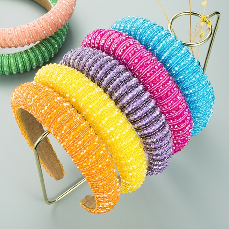 Retro Baroque Sponge Crystal Headband NHLN298233's discount tags
