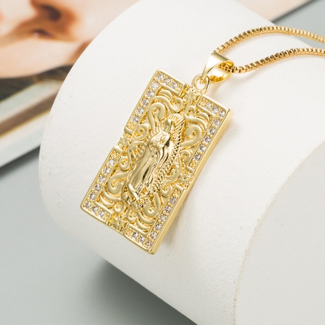 kupfervergoldete eingelegte Zirkonkette NHLN298237's discount tags
