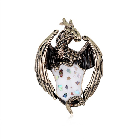 Retro dragon alloy brooch NHDR298261's discount tags