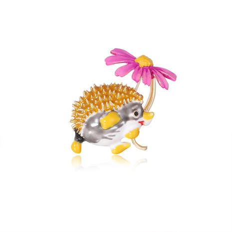 alloy hedgehog flower brooch  NHDR298264's discount tags