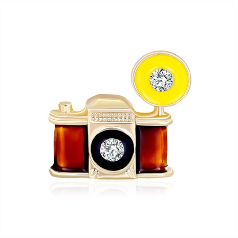 retro camera alloy brooch NHDR298267's discount tags