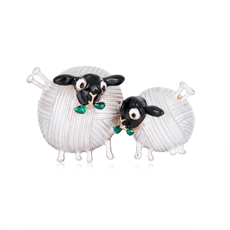 retro small sheep brooch NHDR298270's discount tags
