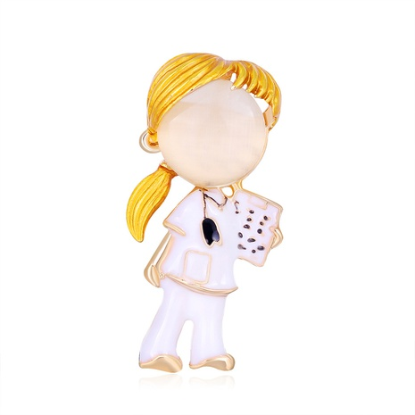 fashion girl alloy brooch NHDR298279's discount tags
