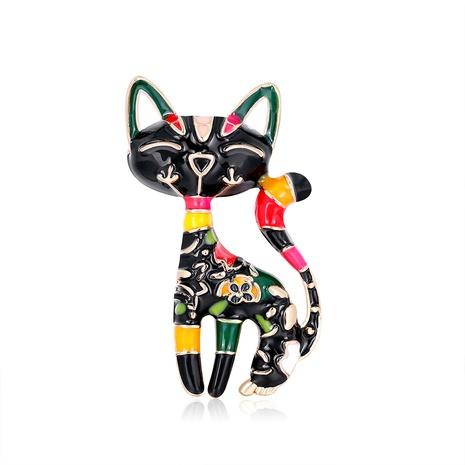 cartoon black cat brooch NHDR298283's discount tags