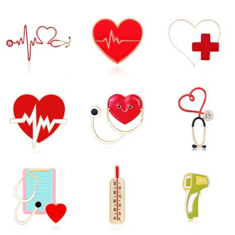Medical Series ECG Brooch  NHDR298286's discount tags