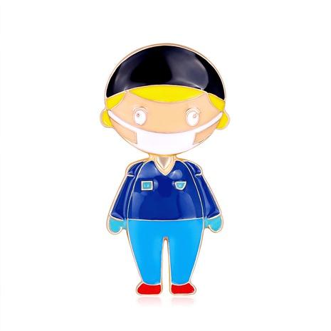 blue cartoon mask boy alloy brooch NHDR298290's discount tags