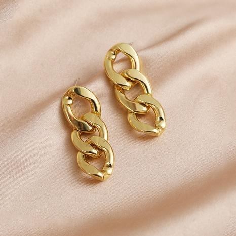 metal chain earrings  NHPF298384's discount tags