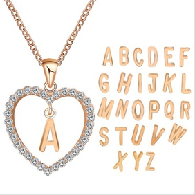 fashion diamond pendant necklace  NHPF298385