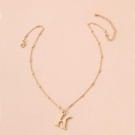 collier à pendentif lettre simple NHAI298387's discount tags