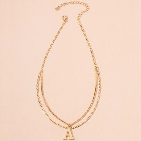 collier à pendentif lettre de mode NHAI298391's discount tags