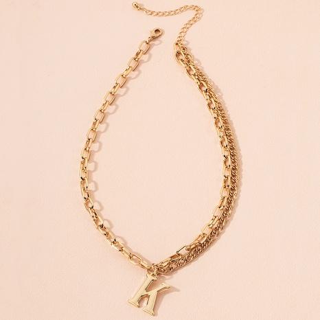 collier à pendentif lettre rétro NHAI298395's discount tags