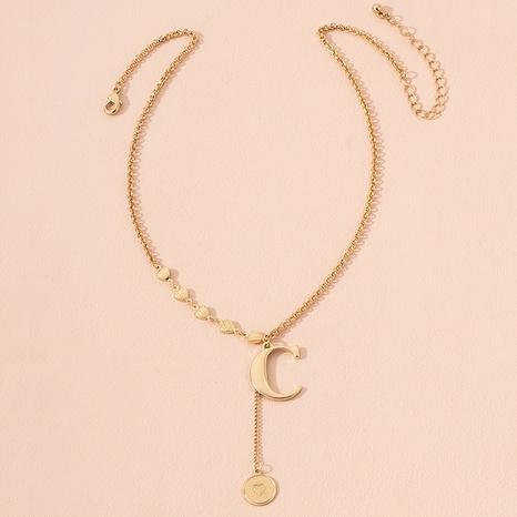 collier à pendentif pièce lettre C NHAI298401's discount tags