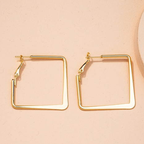 new exaggerated geometric square earrings  NHAI298411's discount tags