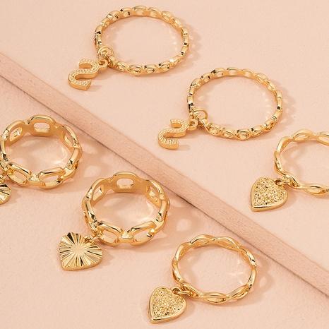 ensemble de bagues zircon avec pendentif coeur rétro NHAI298420's discount tags