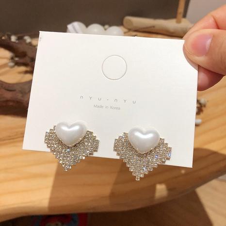 Herzförmige Diamantohrringe NHXI298444's discount tags