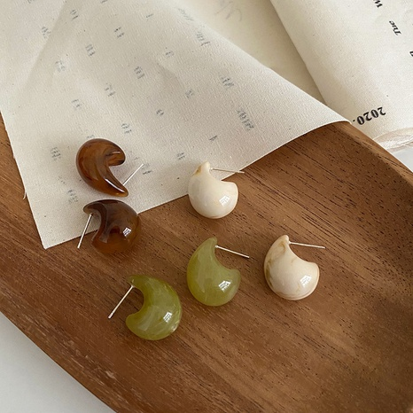 Retro compact water drop resin earrings NHXI298467's discount tags
