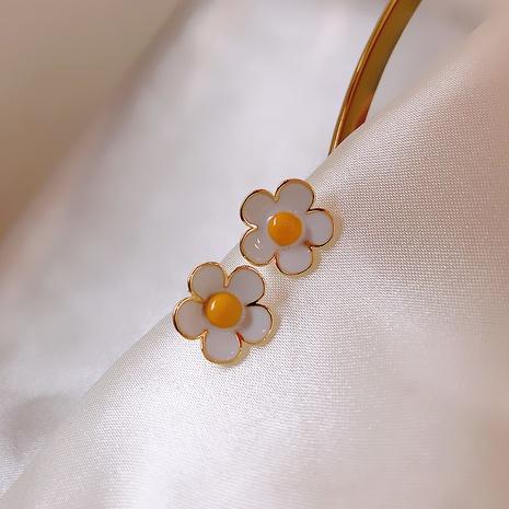 S925 Silbernadel kleine Blumenohrringe NHXI298476's discount tags