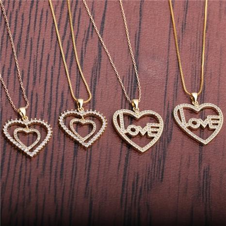 collier lettre LOVE en forme de cœur NHYL298522's discount tags