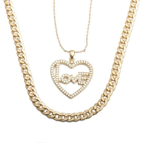 collier lettre LOVE en forme de cœur NHYL298523's discount tags