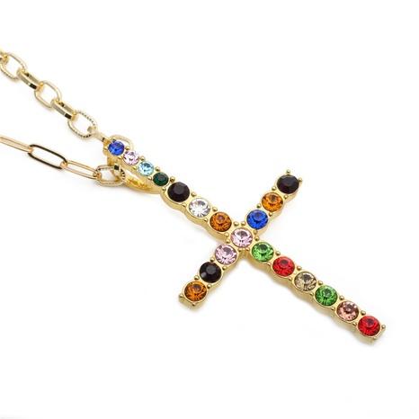 collar con colgante de cruz de diamantes de imitación NHYL298526's discount tags