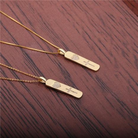 collar cruz corazón de circonio blanco NHYL298529's discount tags