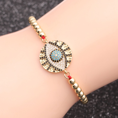 copper micro-inlaid zircon demon eye bracelet  NHYL298537's discount tags