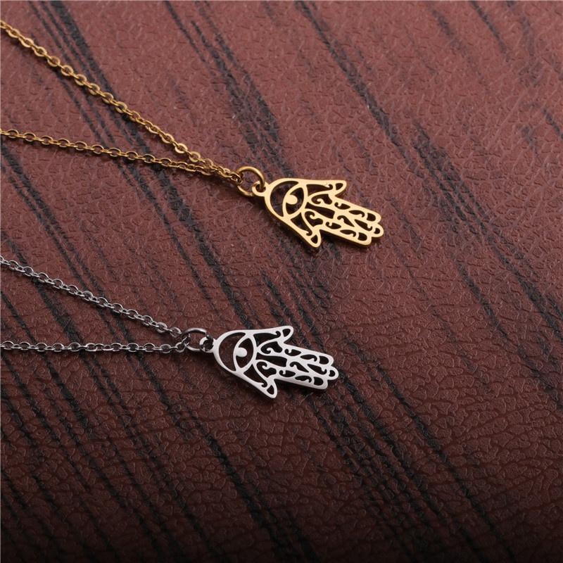 Titanium Steel Pendant Necklace NHYL298542