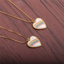 microinlaid zircon heart pendant necklace NHYL298546
