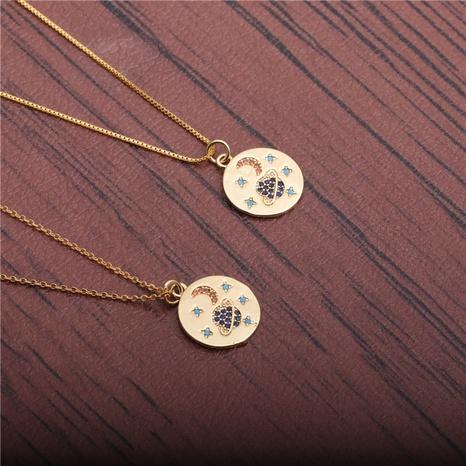 collar de estrellas y luna de circonio NHYL298554's discount tags