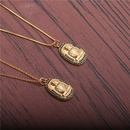 microinlaid zircon Buddha necklace NHYL298559